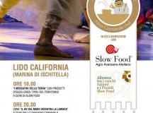 Il Re del mare incontra la lumaca, cena Slow Food con Nino Cannavale venerdì 25 luglio