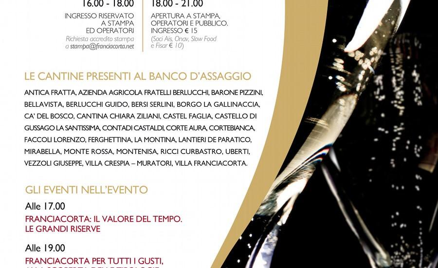 Festival Franciacorta a Napoli, il 16 ottobre al Castel dell'Ovo 26 cantine in mostra