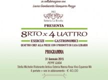 """Dal 31 gennaio a Casa Lerario di Melizzano (Bn) """"8rto X 4uattro"""", poker di chef per le eccellenze del Sannio"""