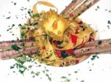 Basta 'na jurnata 'e sole, Fettuccine con fiori di zucca e cannelli di mare