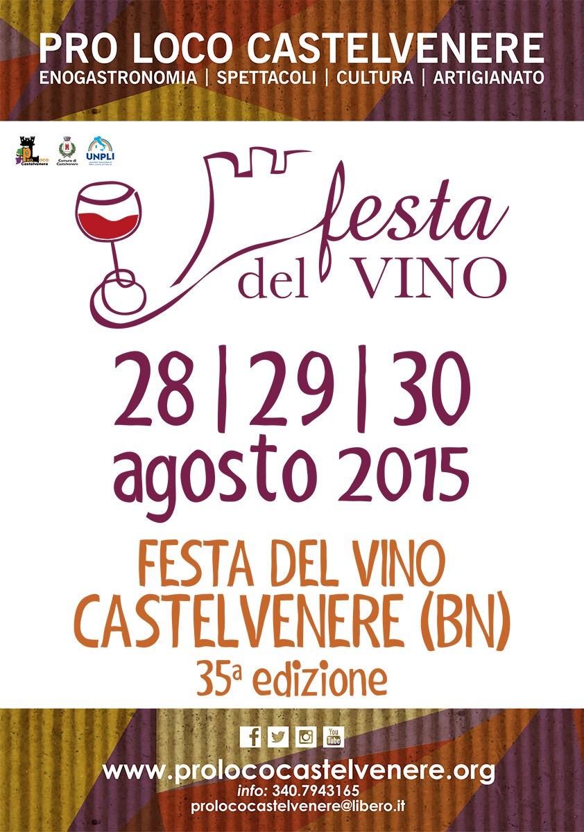 Festa del Vino a Castelvenere (BN). La XXXV edizione dal 28 al 30 agosto