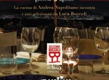 Giovedi 3 Agosto 20.30 cena con il Sommelier itinerante Luca Boccoli