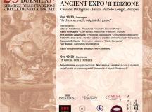 """29 Ottobre a Pompei  """"Storie di Cibo – Ancient expo""""  II edizione"""
