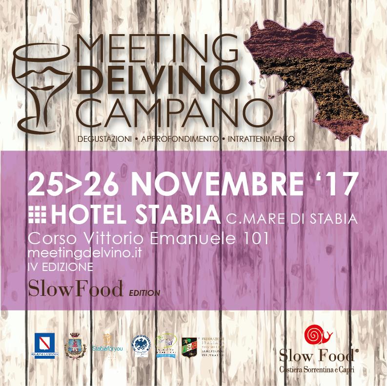 25-26 Novembre IV edizione Meeting del VINO CAMPANO all' Hotel Stabia di Castellammare