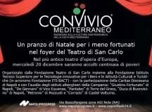20 Dicembre Pranzo di Natale per i meno fortunati nel foyer del Teatro di San Carlo
